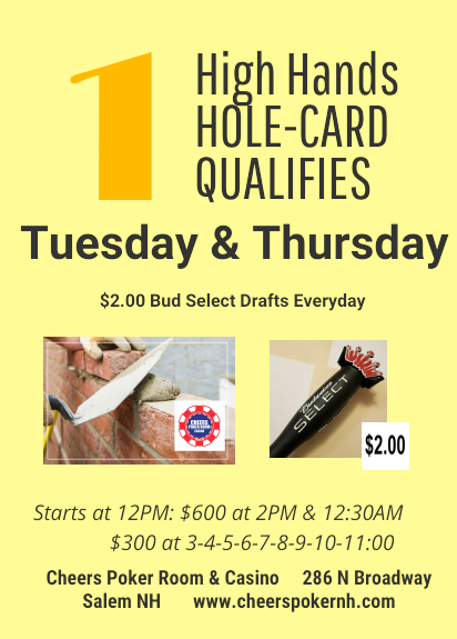 Hi Hands All Day 1 Hole Card Qualifies Amp Tournaments