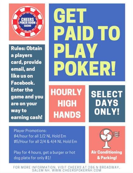 Pay Day Hi Hands Amp Tournaments Cheers Poker Room